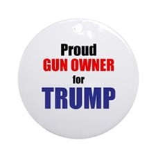 GUN OWNERS for TRUMP Round Ornament