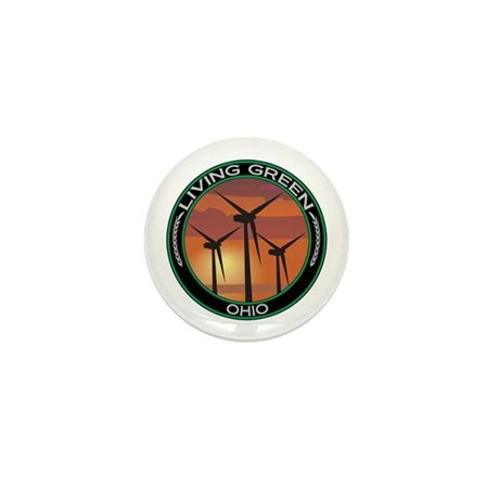 Living Green Ohio Wind Power Mini Button (100 pack