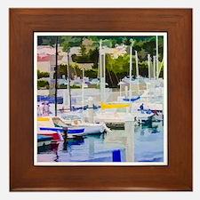 At The Marina Framed Tile