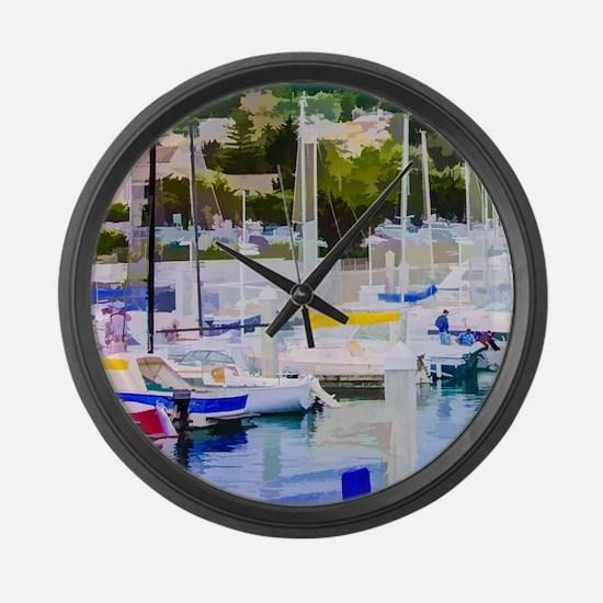 At The Marina Large Wall Clock