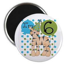 Tiger 6th Birthday Magnet