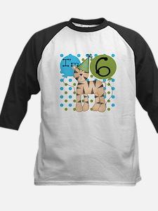 Tiger 6th Birthday Kids Baseball Jersey