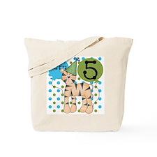 Tiger 5th Birthday Tote Bag