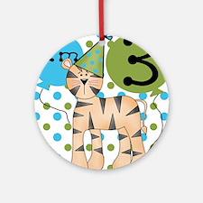 Tiger 3rd Birthday Ornament (Round)