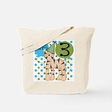Tiger 3rd Birthday Tote Bag