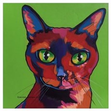 Tate Pop Art Cat Framed Print