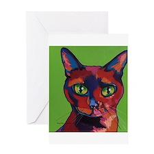 Tate Pop Art Cat Greeting Cards