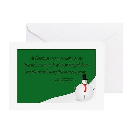 Shakespeare's Christmas Greeting Card