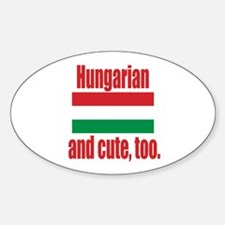 Cute Hungarian Oval Decal