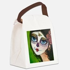 Cute Dia de los muertos Canvas Lunch Bag