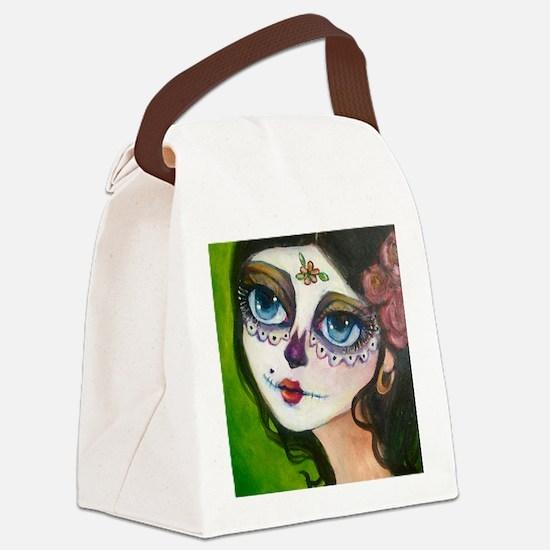 Cute Latina Canvas Lunch Bag