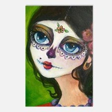 Unique Sugar day of the dead Postcards (Package of 8)