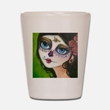 Heather galler day of the dead Shot Glass