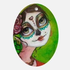 Unique Latina Oval Ornament