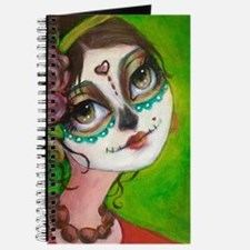 Cute Day of the dead skull Journal