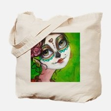 Cool Day of the dead vizsla Tote Bag