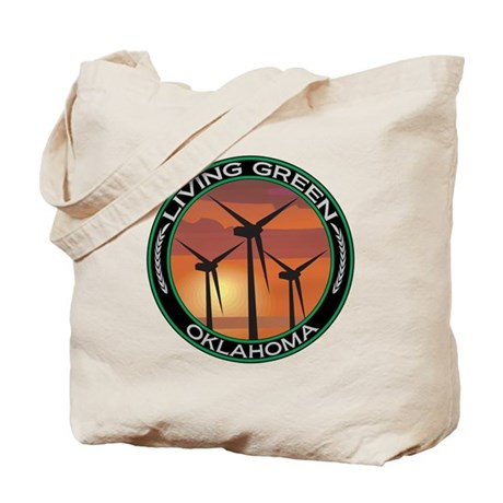 Living Green Oklahoma Wind Power Tote Bag
