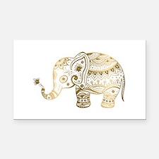 Funny Elephant Rectangle Car Magnet