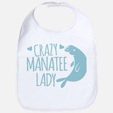Crazy Manatee Lady Bib