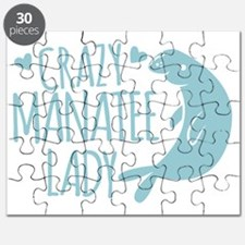 Crazy Manatee Lady Puzzle
