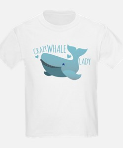 Crazy Whale Lady T-Shirt