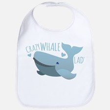 Crazy Whale Lady Bib