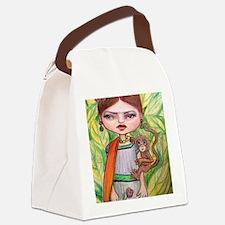 Cute Painter Canvas Lunch Bag