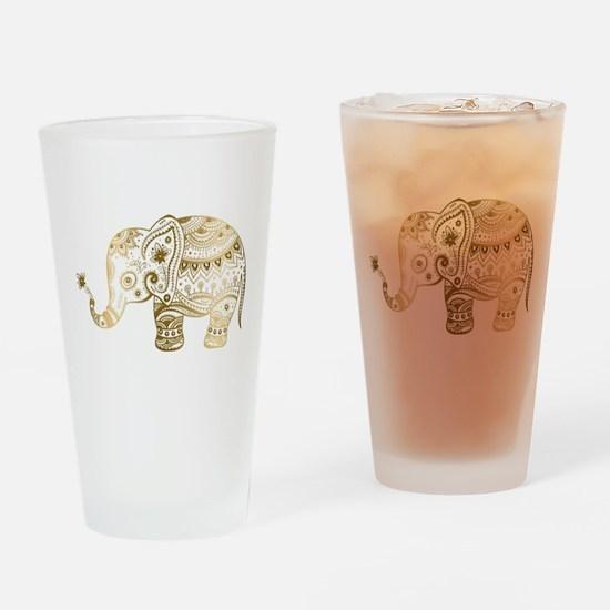 Funny Elephant Drinking Glass