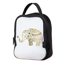 Unique Elephant Neoprene Lunch Bag