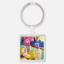 Lemon Water Square Keychain