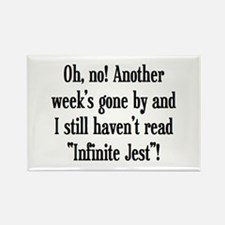 read infinite jest Rectangle Magnet
