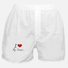 I Love My Farmer Boxer Shorts