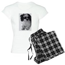 Black Gray White Shih Tzu P Pajamas