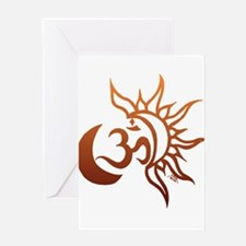 Celestial Om Greeting Cards