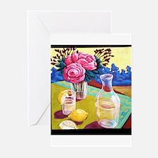 Lemon Water Greeting Cards