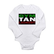 Cute Gym tan laundry Long Sleeve Infant Bodysuit