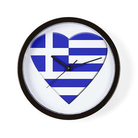 Greek Heart Wall Clock