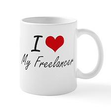 I Love My Freelancer Mugs