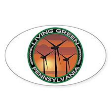 Living Green Pennsylvania Wind Power Decal
