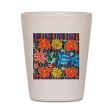 Mexican Flower Embroidery Shot Glass