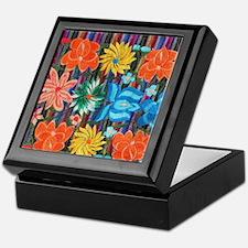Mexican Flower Embroidery Keepsake Box