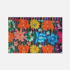 Mexican Flower Embroidery Rectangle Magnet