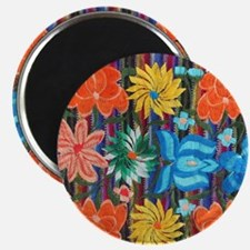 Mexican Flower Embroidery Magnet