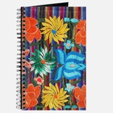 Mexican Flower Embroidery Journal