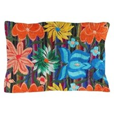 Mexican Flower Embroidery Pillow Case