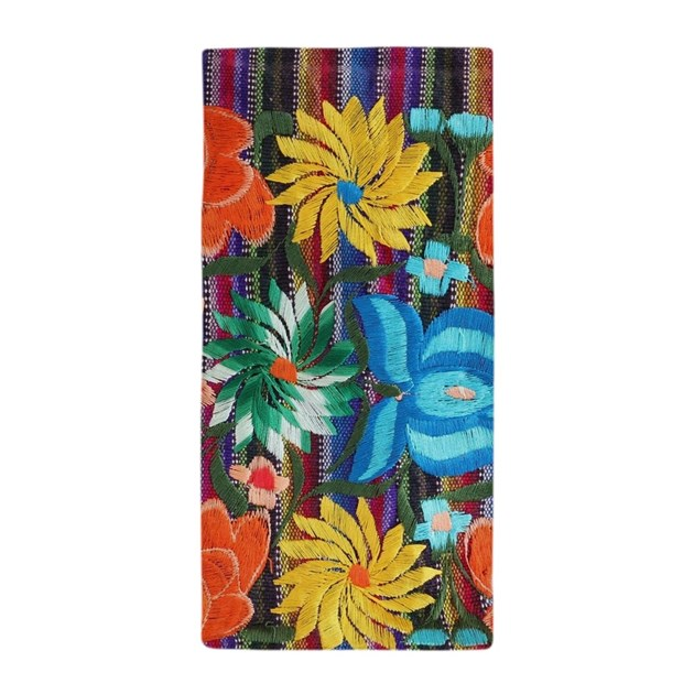 Mexican flower embroidery beach towel by admin cp