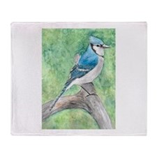 Cute Blue jays Throw Blanket