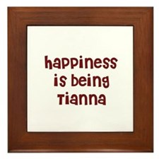 happiness is being Tianna Framed Tile