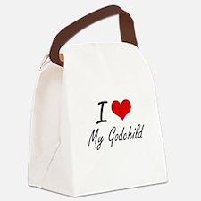 I Love My Godchild Canvas Lunch Bag