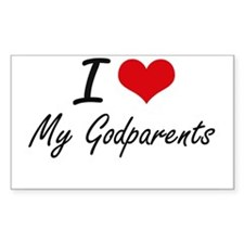 I Love My Godparents Decal